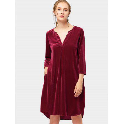 Velvet High Low Party Dress