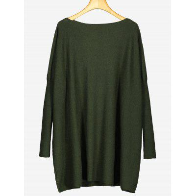 Oversized Longline Plain Sweater