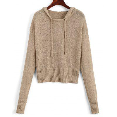 Hooded Drawstring Pullover Sweater