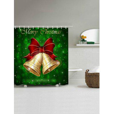 Merry Christmas Bell Print Waterproof Bath CurtainShower Curtain<br>Merry Christmas Bell Print Waterproof Bath Curtain<br><br>Materials: Polyester<br>Number of Hook Holes: W59 inch*L71 inch: 10; W71 inch*L71 inch: 12; W71 inch*L79 inch: 12<br>Package Contents: 1 x Shower Curtain 1 x Hooks (Set)<br>Products Type: Shower Curtains<br>Style: Festival
