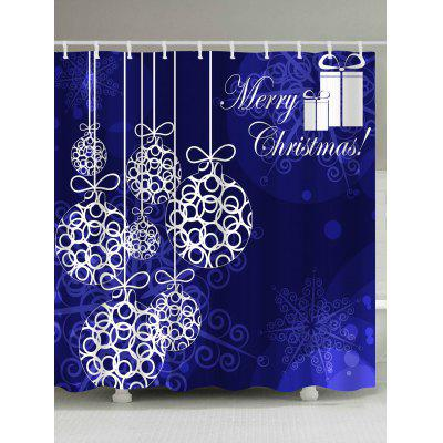Christmas Ball Printed Waterproof Shower Curtain