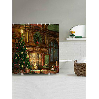 Christmas Fireplace Print Waterproof Shower CurtainShower Curtain<br>Christmas Fireplace Print Waterproof Shower Curtain<br><br>Materials: Polyester<br>Number of Hook Holes: W59 inch*L71 inch: 10; W71 inch*L71 inch: 12; W71 inch*L79 inch: 12<br>Package Contents: 1 x Shower Curtain 1 x Hooks (Set)<br>Pattern: Christmas Tree<br>Products Type: Shower Curtains<br>Style: Festival