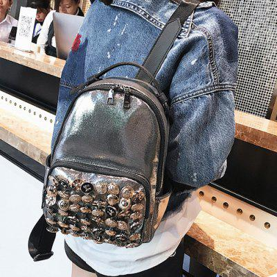 Faux Leather Small Rivets BackpackBackpacks<br>Faux Leather Small Rivets Backpack<br><br>Closure Type: Zipper<br>Embellishment: Rivet<br>Gender: For Women<br>Handbag Size: Small(20-30cm)<br>Handbag Type: Backpack<br>Interior: Interior Zipper Pocket<br>Main Material: PU<br>Occasion: Versatile<br>Package Contents: 1 x Backpack<br>Pattern Type: Solid<br>Size(CM)(L*W*H): 20*12*27<br>Style: Fashion<br>Weight: 0.7000kg