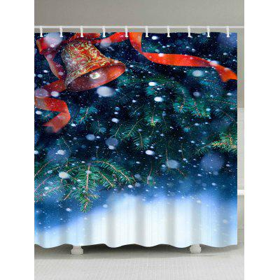 Christmas Snow Bell Waterproof Shower Curtain