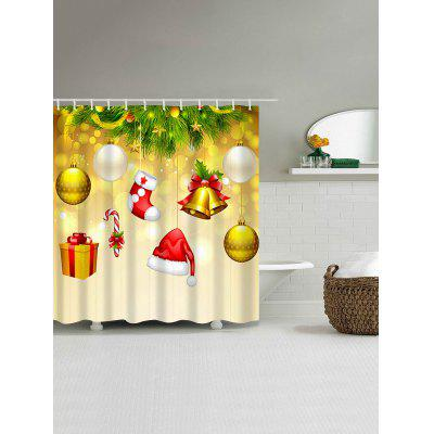 Christmas Ornaments Hat Sock Waterproof Bath CurtainShower Curtain<br>Christmas Ornaments Hat Sock Waterproof Bath Curtain<br><br>Materials: Polyester<br>Number of Hook Holes: W59 inch*L71 inch: 10; W71 inch*L71 inch: 12; W71 inch*L79 inch: 12<br>Package Contents: 1 x Shower Curtain 1 x Hooks (Set)<br>Pattern: Ball,Gift<br>Products Type: Shower Curtains<br>Style: Festival