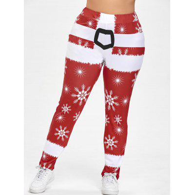Christmas Plus Size Snowflake Pants