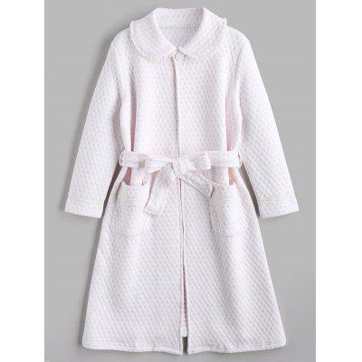 Textured Flocking Heart Night Robe