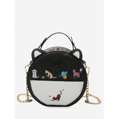 Cartoon Animal Embroiderey Mini Crossbody Bag