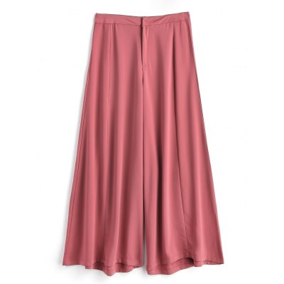 Buy RUSSET-RED S Wide Legged Casual High Waisted Pants for $32.55 in GearBest store