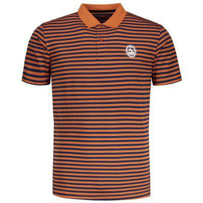 Striped Short Sleeve Mens Polo Tee