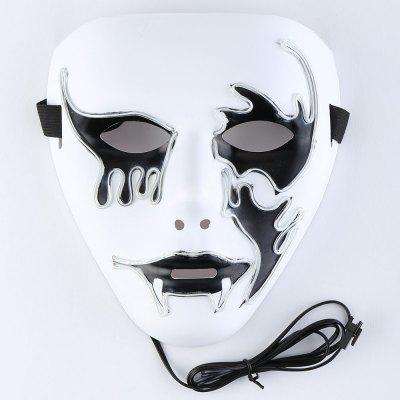 EL Wire Glowing Halloween Cosplay Creepy MaskHalloween Supplies<br>EL Wire Glowing Halloween Cosplay Creepy Mask<br><br>Event &amp; Party Item Type: Party Decoration<br>Material: Plastic<br>Occasion: Halloween<br>Package Contents: 1 x Mask 1 x Controller<br>Shape/Pattern: Character