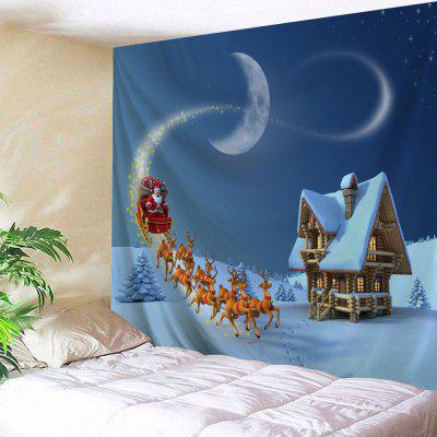 Christmas Sled Cottage Print Wall Tapestry