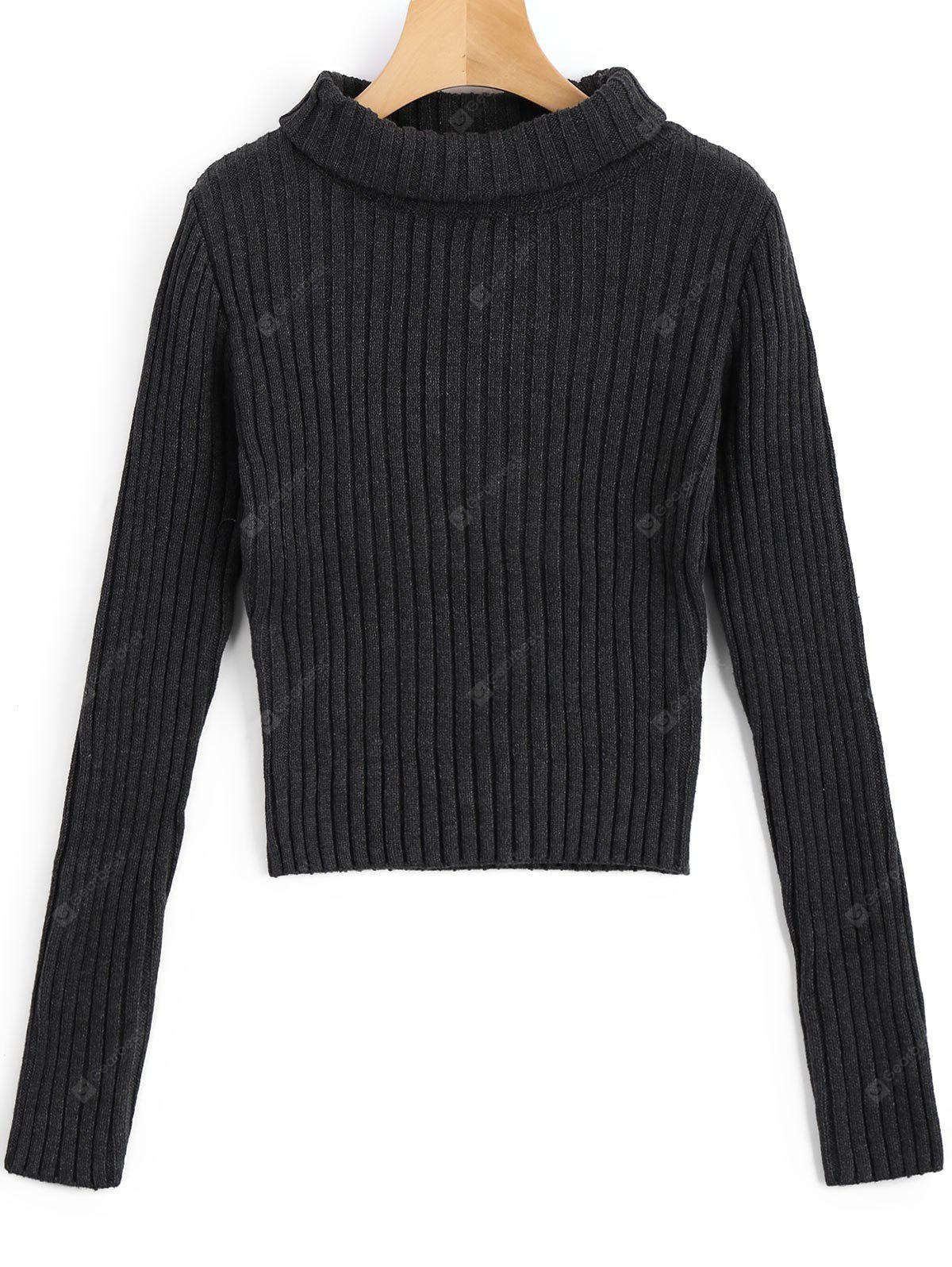 Pullover Ribbed Turtleneck Sweater