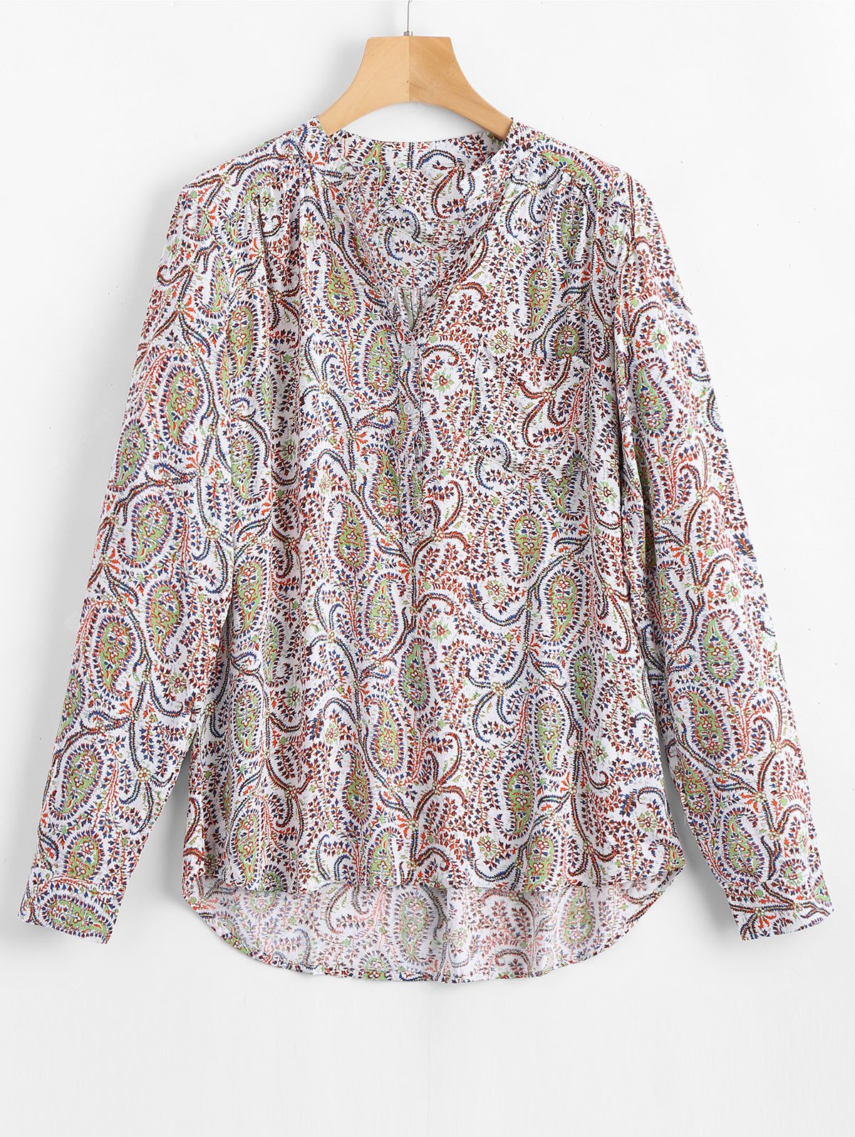 Tiny Floral High Low Loose Blouse