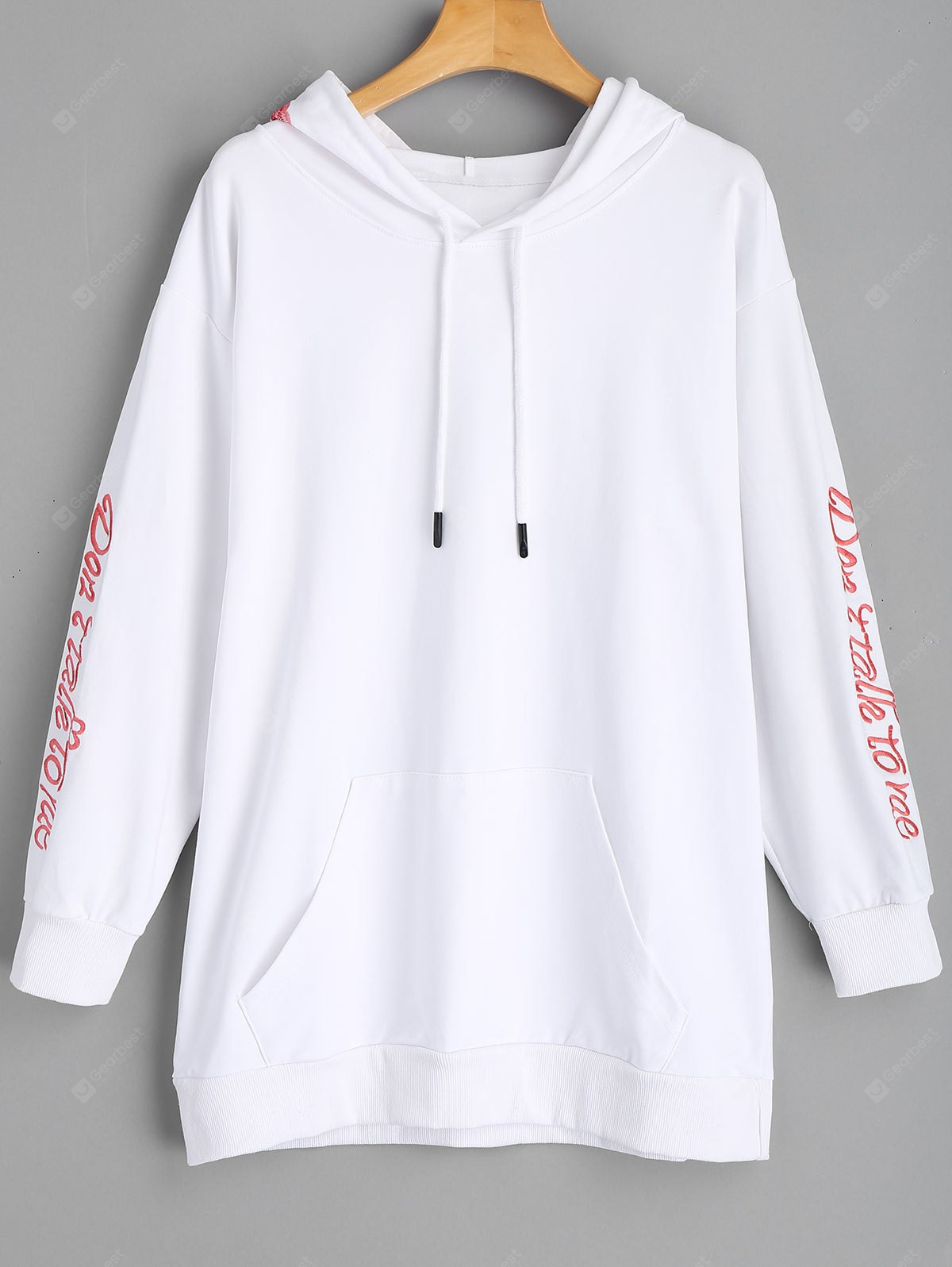 Embroidered Longline Hoodie