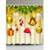 Christmas Ornaments Hat Sock Waterproof Bath Curtain - SUNFLOWER