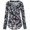 Lace Up Camouflage Lace Panel T-shirt - ACU CAMOUFLAGE