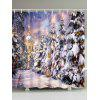 Christmas Tree Castle Waterproof Bath Curtain - COLORMIX