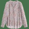 Tiny Floral High Low Loose Blouse - FLORAL