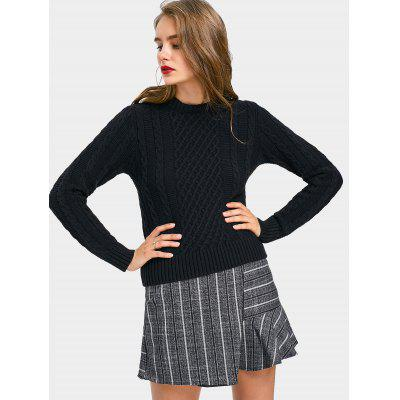 Pullover Cable Knit Fitting Sweater