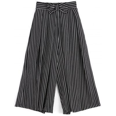 Buy STRIPE S Striped Bowknot Wide Leg Pants for $29.72 in GearBest store