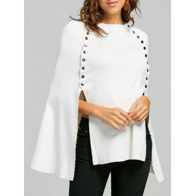 Seiten Button Up Cape Sweater