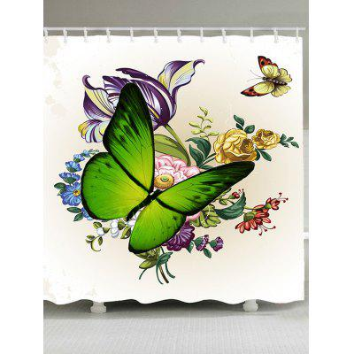 Removable Floral Butterflies Shower CurtainShower Curtain<br>Removable Floral Butterflies Shower Curtain<br><br>Materials: Polyester<br>Package Contents: 1 x Shower Curtain<br>Pattern: Animal,Floral,Print<br>Products Type: Shower Curtains<br>Style: Natural