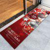 Christmas Ornaments Ball Print Flannel Nonslip Bath Rug - DARK RED