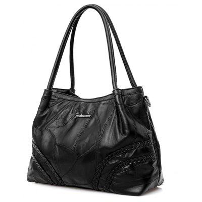 Stitching Braided Faux Leather Tote BagHandbags<br>Stitching Braided Faux Leather Tote Bag<br><br>Closure Type: Zipper<br>Gender: For Women<br>Handbag Size: Medium(30-50cm)<br>Handbag Type: Totes<br>Interior: Interior Zipper Pocket, Cell Phone Pocket<br>Main Material: PU<br>Occasion: Versatile<br>Package Contents: 1 x Tote Bag<br>Pattern Type: Solid<br>Size(CM)(L*W*H): 33*13*26<br>Style: Fashion<br>Weight: 1.2000kg
