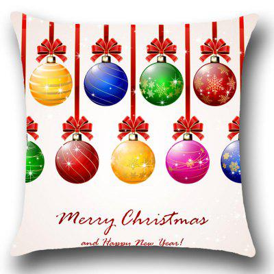 Christmas Colorful Balls Printed Throw Pillow CasePillow<br>Christmas Colorful Balls Printed Throw Pillow Case<br><br>Fabric Type: Linen<br>Material: Linen<br>Package Contents: 1 x Pillow Case<br>Pattern: Letter,Printed<br>Shape: Square<br>Style: Festival<br>Weight: 0.0800kg