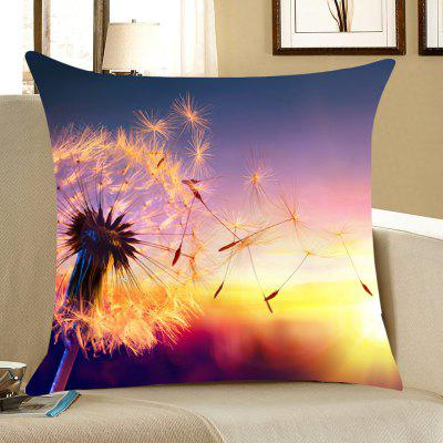Sunset Dandelion Home Decorative Throw Pillow Case