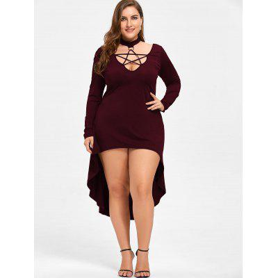Halloween Plus Size Lace Up Cocktail DressPlus Size Dresses<br>Halloween Plus Size Lace Up Cocktail Dress<br><br>Dresses Length: Mid-Calf<br>Material: Polyester, Spandex<br>Neckline: Mock Neck<br>Package Contents: 1 x Dress<br>Pattern Type: Solid Color<br>Season: Spring, Fall<br>Silhouette: A-Line<br>Sleeve Length: Long Sleeves<br>Style: Club<br>Weight: 0.3700kg<br>With Belt: No