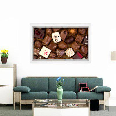 Multifunction 3D Chocolate Printed Stick-on Wall Art PaintingPrints<br>Multifunction 3D Chocolate Printed Stick-on Wall Art Painting<br><br>Features: Decorative<br>Form: One Panel<br>Frame: No<br>Hang In/Stick On: Bathroom,Bedrooms,Hotels,Kitchen,Living Rooms<br>Material: Vinyl(PVC)<br>Package Contents: 1 x Wall Art Painting
