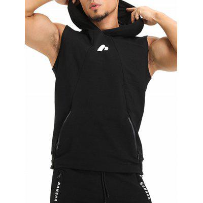Hooded Zip Pockets Openwork Panel VestSport Clothing<br>Hooded Zip Pockets Openwork Panel Vest<br><br>Material: Cotton, Polyester<br>Package Contents: 1 x Vest<br>Pattern Type: Solid<br>Type: Vest<br>Weight: 0.3600kg