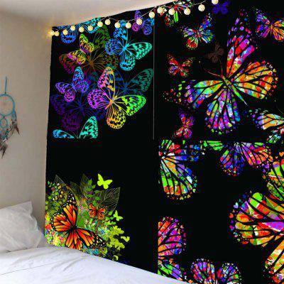 Buy COLORFUL Butterfly Print Waterproof Wall Hanging Tapestry for $18.34 in GearBest store