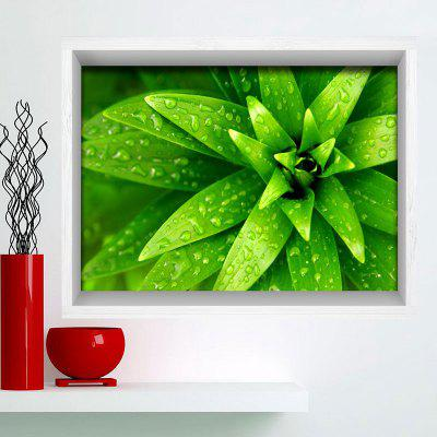 Buy GREEN Multifunction 3D Plant Print Stick-on Wall Art Painting for $24.12 in GearBest store