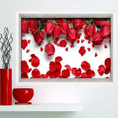 Buy ROSE MADDER 3D Rose Print Multifunction Stick-on Wall Art Painting for $24.12 in GearBest store