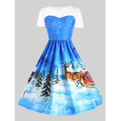 Father Christmas Sleigh Gown Dress