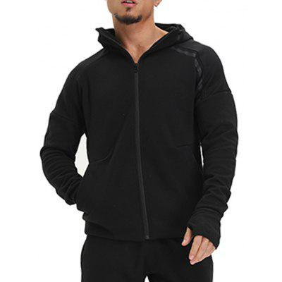 Hooded Drop Shoulder Zip Up Hoodie