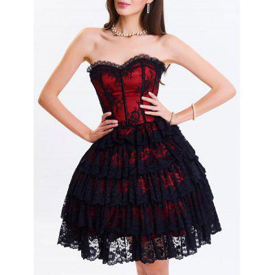 Club Lace Tiered Corset Dress