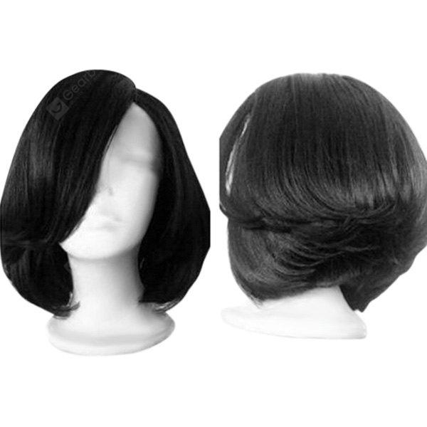Short Side Parting Straight Feathered Bob Synthetic Wig
