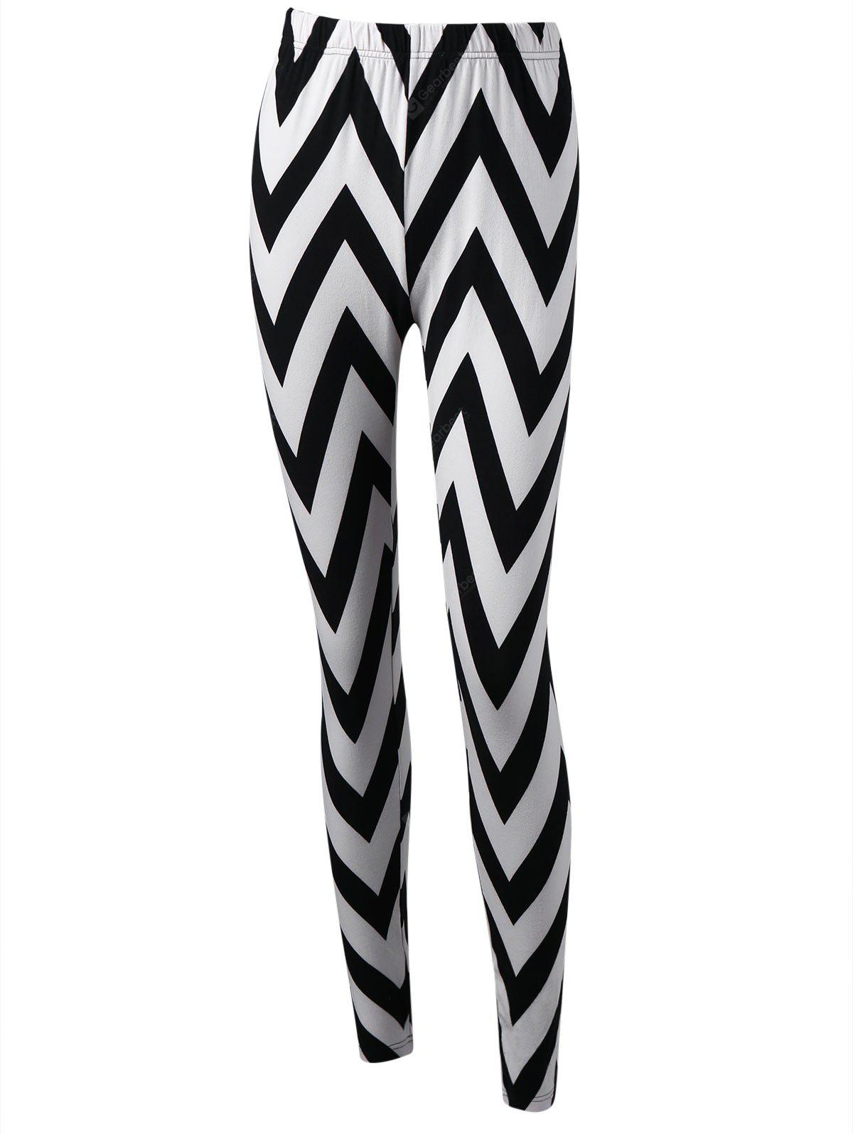 Monochrome Zick-Zack-Leggings