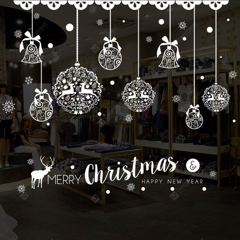 Christmas Baubles Pattern Wall Art Stickers For Living Room