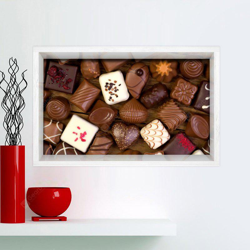 CHOCOLATE Multifunction 3D Chocolate Printed Stick-on Wall Art Painting