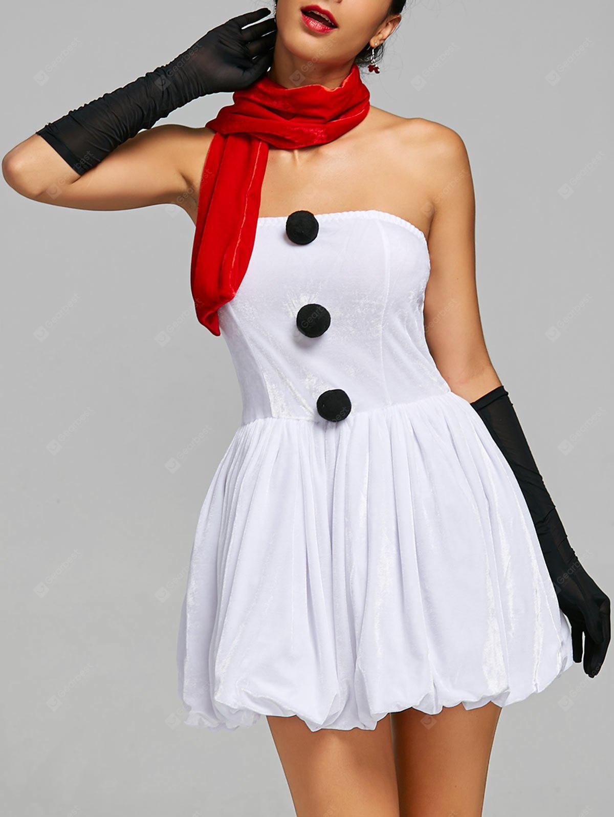 Strapless Snowman Christmas Costume Outfits