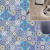 Geometric Flower Nonslip Floor Decals European Wall Tile Stickers Set - COLORMIX
