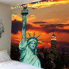 Statue of Liberty Pattern Waterproof Wall Tapestry - COLORFUL