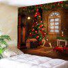 Christmas Tree Decorations Patterned Wall Art Tapestry - COLORFUL
