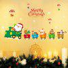 Christmas Santa Train Pattern Wall Art Stickers For Living Room - COLORMIX