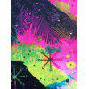 3D Splatter Paint Tree Print Pullover Hoodie - COLORMIX